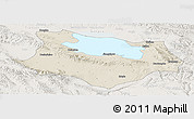 Shaded Relief Panoramic Map of Gonghe, lighten