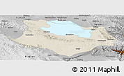Shaded Relief Panoramic Map of Gonghe, physical outside