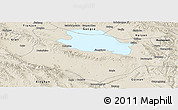 Shaded Relief Panoramic Map of Gonghe
