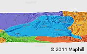 Political Panoramic Map of Guinan