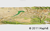 Satellite Panoramic Map of Guinan