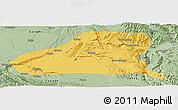 Savanna Style Panoramic Map of Guinan