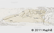 Shaded Relief Panoramic Map of Guinan, lighten