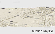 Shaded Relief Panoramic Map of Guinan