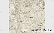 Shaded Relief Map of Huangzhong