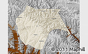 Shaded Relief Map of Huzhu, physical outside