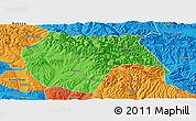 Political Panoramic Map of Huzhu