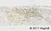 Shaded Relief Panoramic Map of Huzhu, lighten