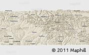 Shaded Relief Panoramic Map of Huzhu
