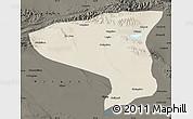 Shaded Relief Map of Lenghu, darken