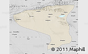 Shaded Relief Map of Lenghu, desaturated