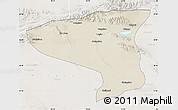 Shaded Relief Map of Lenghu, lighten