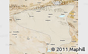 Shaded Relief Map of Lenghu, satellite outside
