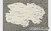 Shaded Relief Map of Qinghai, darken