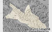 Shaded Relief Map of Menyuan, darken, desaturated
