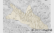 Shaded Relief Map of Menyuan, desaturated