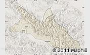 Shaded Relief Map of Menyuan, lighten
