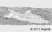 Gray Panoramic Map of Menyuan