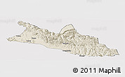 Shaded Relief Panoramic Map of Menyuan, cropped outside