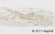 Shaded Relief Panoramic Map of Menyuan, lighten