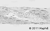 Silver Style Panoramic Map of Menyuan
