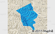 Political Map of Minhe, shaded relief outside