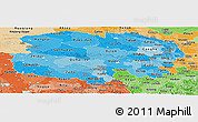 Political Shades Panoramic Map of Qinghai