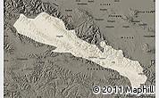 Shaded Relief Map of Qilian, darken