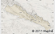 Shaded Relief Map of Qilian, lighten
