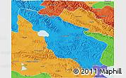 Political 3D Map of Tianjun