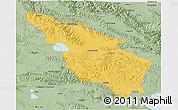 Savanna Style 3D Map of Tianjun