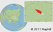 Savanna Style Location Map of Tianjun