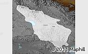 Physical Map of Tianjun, darken