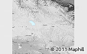 Physical Map of Tianjun, desaturated