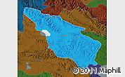 Political Map of Tianjun, darken