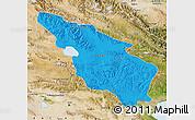 Political Map of Tianjun, satellite outside
