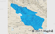 Political Map of Tianjun, shaded relief outside
