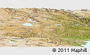 Satellite Panoramic Map of Tianjun