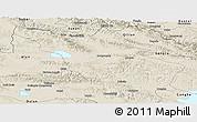 Shaded Relief Panoramic Map of Tianjun