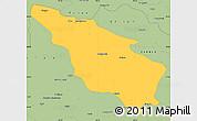 Savanna Style Simple Map of Tianjun
