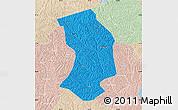 Political Map of Ansai, lighten