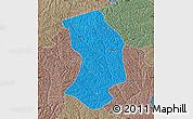 Political Map of Ansai, semi-desaturated
