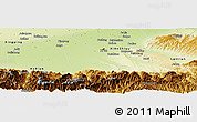 Physical Panoramic Map of Chang An