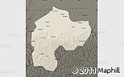 Shaded Relief Map of Dingbian, darken