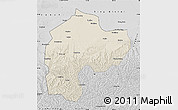 Shaded Relief Map of Dingbian, desaturated