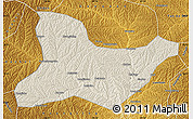 Shaded Relief Map of Fu Xian, physical outside