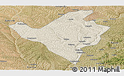 Shaded Relief Panoramic Map of Fugu, satellite outside