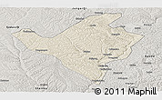 Shaded Relief Panoramic Map of Fugu, semi-desaturated