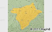 Savanna Style Map of Hengshan