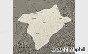 Shaded Relief Map of Hengshan, darken